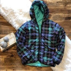 Girls Plaid Columbia Coat